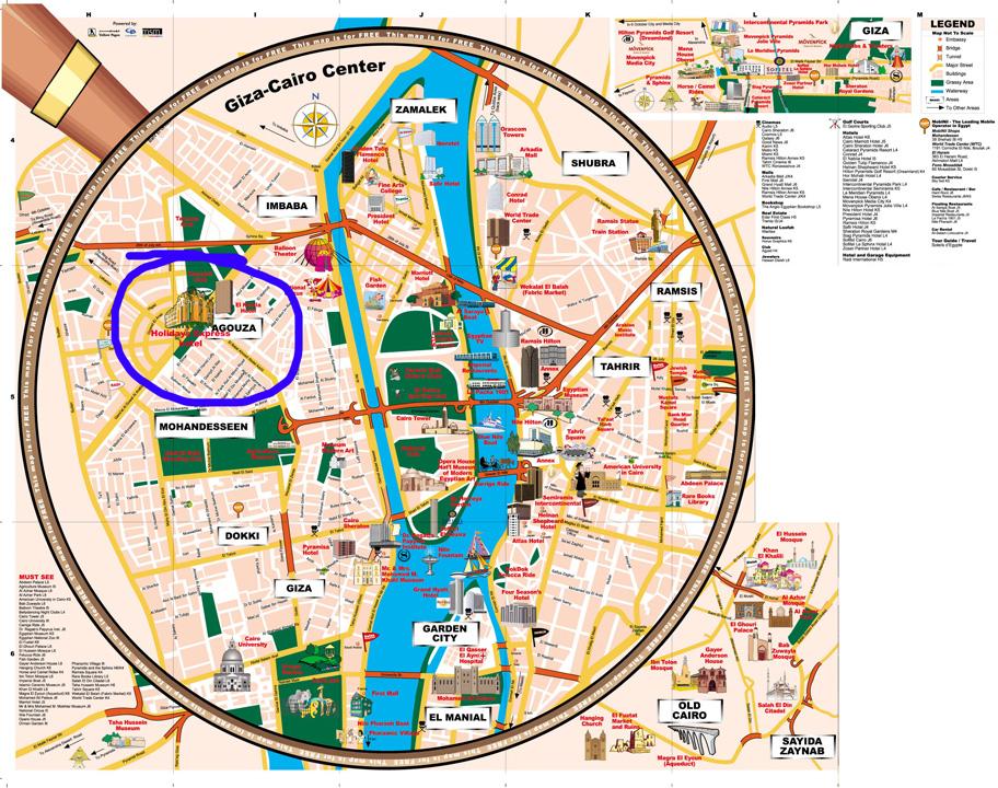 Cairo Escape Tour Map