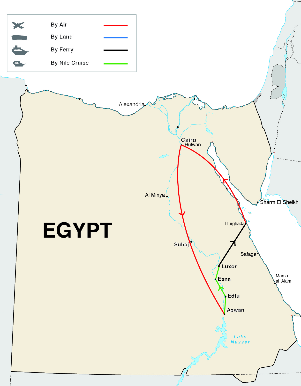 Colors of Ramses Tour Map