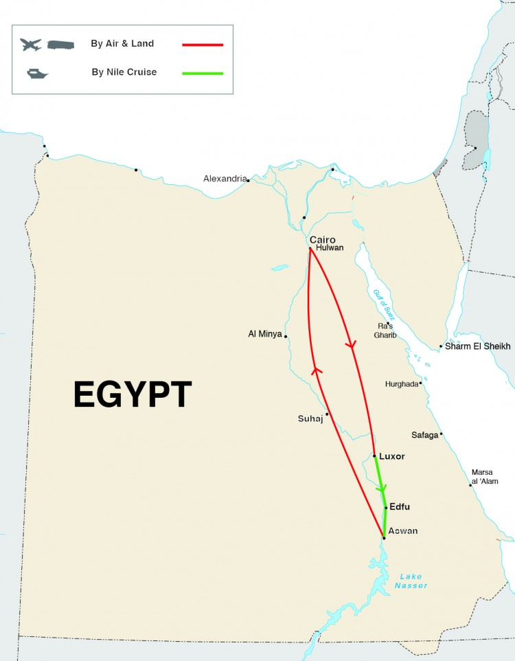 Egypt Exclusive Tour Map