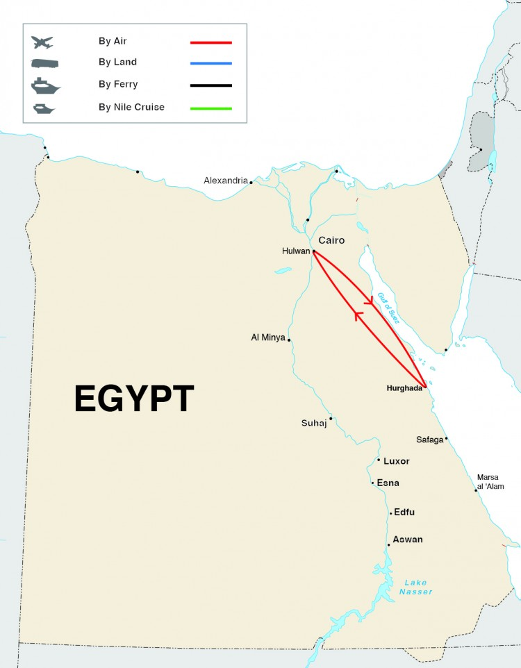 Taste of Egypt Tour Map